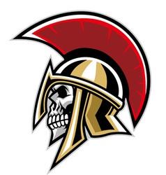 warrior skull vector image vector image