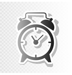 alarm clock sign new year blackish icon vector image