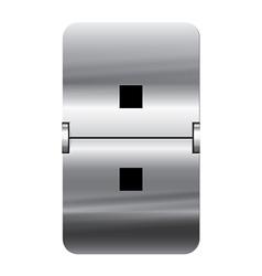 Alphabet silver flipboard letters colon vector image vector image