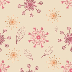 hand draw seamless pattern with snow flakes and vector image