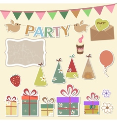 Party design elements for scrapbook vector image