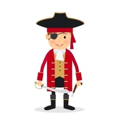 Pirate boy vector image