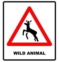 beware deer crossing warning traffic signs vector image vector image