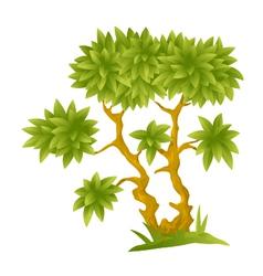 Cartoon Decorative Tree vector image vector image