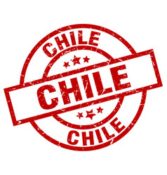 chile red round grunge stamp vector image