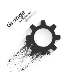Grunge background with gear vector image