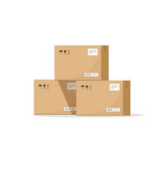 parcel boxes carton warehouse vector image