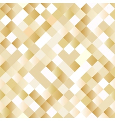 Seamless background with shiny golden squares vector image