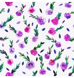 Seamless pattern with beautiful hand paint vector image vector image