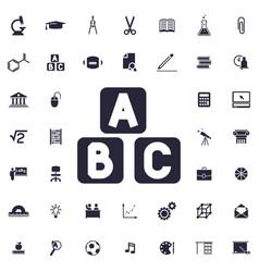 A b c block icon vector