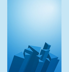 abstract 3d geometric blue background vector image