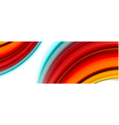 abstract wave lines fluid color stripes vector image
