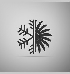 air conditioner icon isolated on grey background vector image