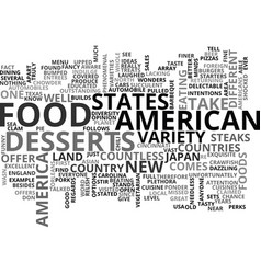 American food text word cloud concept vector