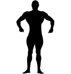 Athletic bodybuilder vector