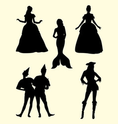 awesome costume silhouette vector image
