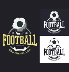 Ball for soccer or football for team t-shirt vector
