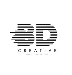 Bd b d zebra letter logo design with black and vector