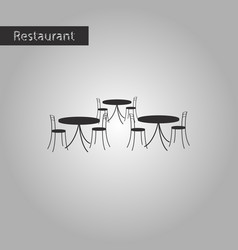 Black and white style icon tables and chairs vector