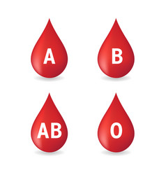 Blood type set isolated on white background vector