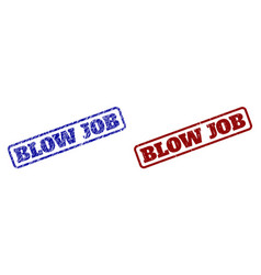 Blow job blue and red rounded rectangle watermarks vector
