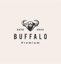 buffalo hipster vintage logo icon vector image