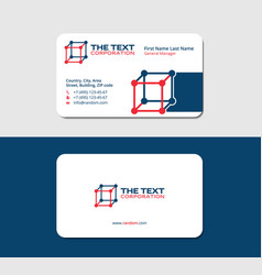 Business card medicine blue and red colors vector