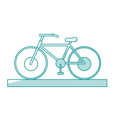 Bycicle shadow vector