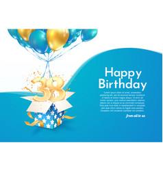 Celebrating 38 th years birthday vector