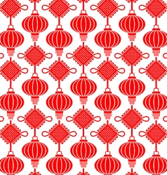 China Lamp Seamless Pattern vector