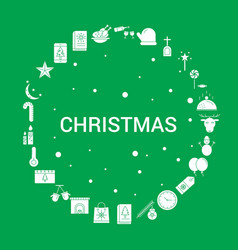 Christmas icon set infographic template vector