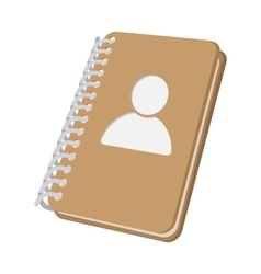 Closed spiral address book cartoon icon vector