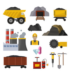 coal extraction production mining heavy industry vector image