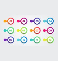 colorful liquid bullet point set vector image