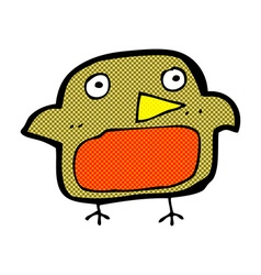 Comic cartoon robin vector