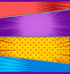 Comic colorful backgrounds vector