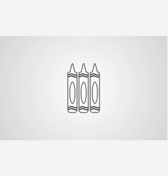 crayon icon sign symbol vector image