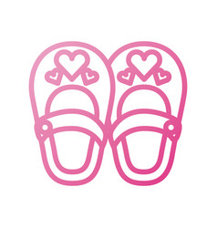 Cute girl shoes baby shower decoration celebration vector