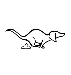 Dachshund poo-poo dog handdrawing vector