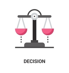 Decision icon concept vector