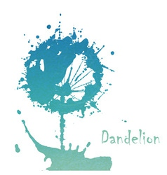 Decorative flover dandelion vector