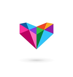 Diamond logo icon design template with letter V vector
