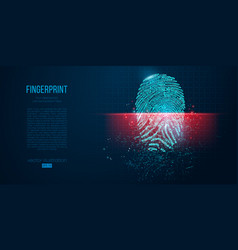 digital security electronic fingerprint scanning vector image
