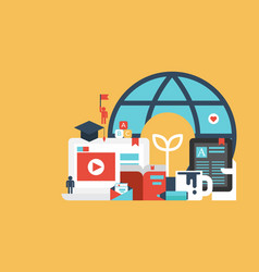 education flat vector image
