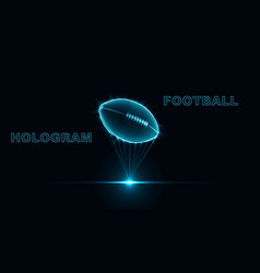 Eps10 hologram ball for american football neon vector