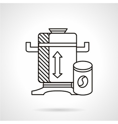 Flat line coffee mill icon vector