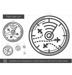 flight radar line icon vector image