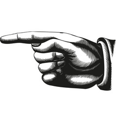 hand icon pointer eps 10 vector image