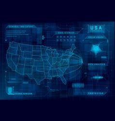 hud map usa set callout design vector image