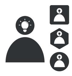 Idea icon set 2 monochrome vector
